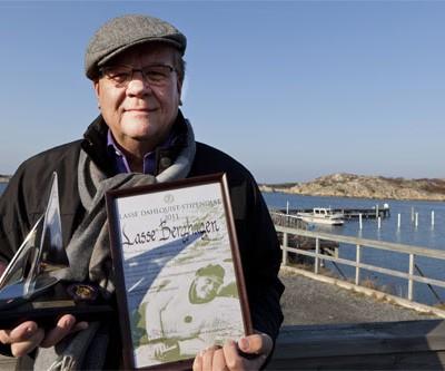 En strålande skärgårdstur när Lasse Berghagen tilldelades LD-stipendiet 2011 på Brännö Brygga