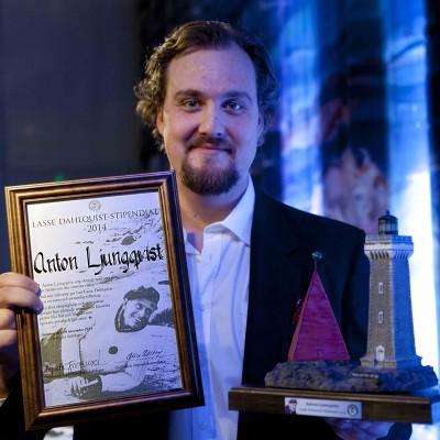 Högtidligt och festligt när Anton Ljungqvist fick Lasse Dahlquist Stipendiet 2014